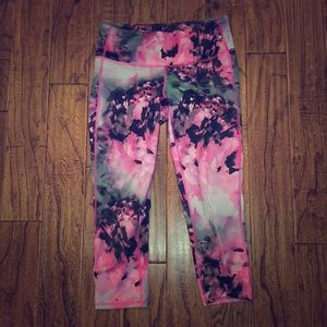 Athleta floral capri leggings XS